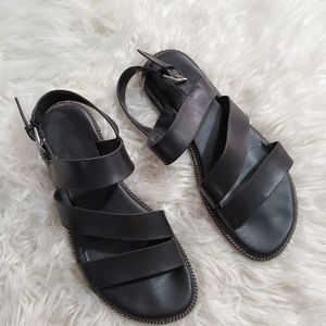 Franco Sarto Kelso Leather Strappy Sandals 9